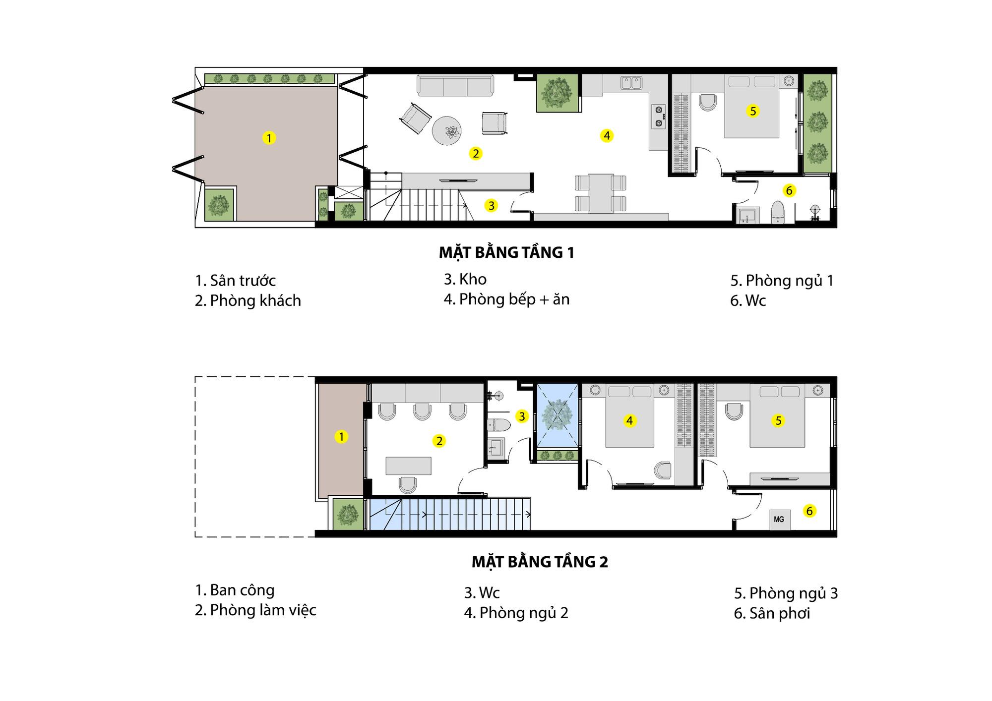 Nhà phố 2 tầng rộng 100m2 được thiết kế ấn tượng với khoảng thông tầng nhiều ánh sáng có chi phí 1,4 tỷ ở Đà Nẵng - Ảnh 2.