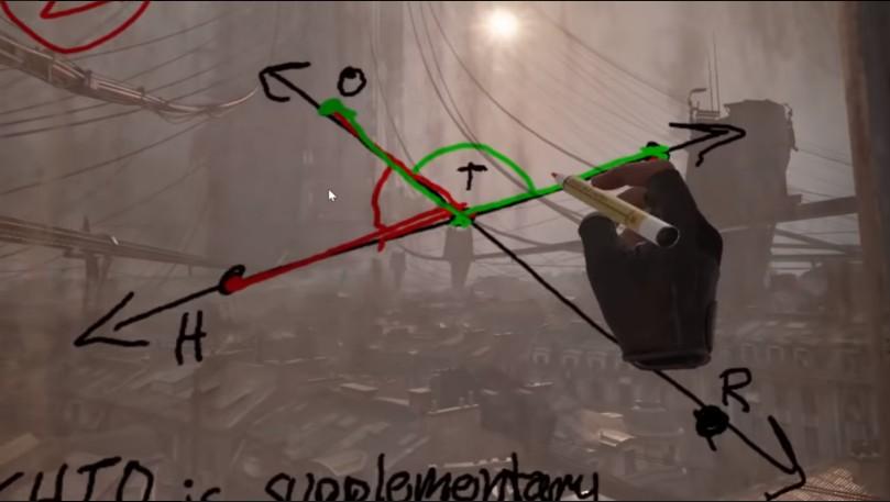 Học online sướng như game thủ khi được thầy giáo dùng hẳn Half-Life: Alyx để dạy toán - Ảnh 1.