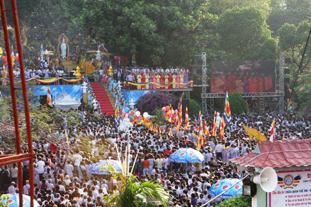 Tạm dừng tổ chức lễ hội Quán Thế Âm do dịch bệnh Covid-19 - Ảnh 1.