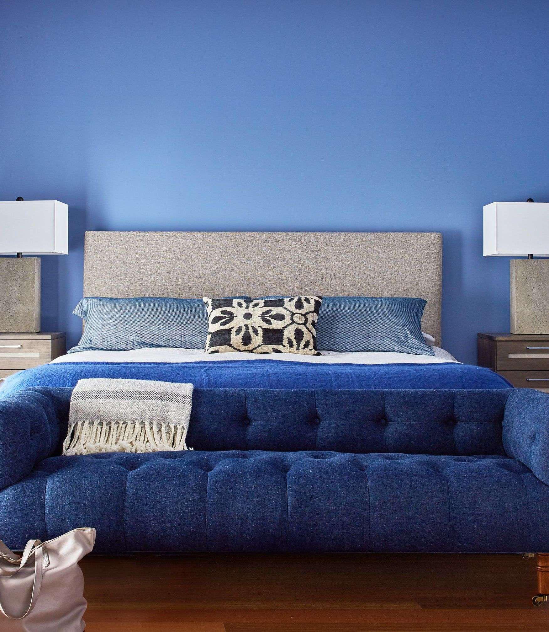 Sức lôi cuốn khó lòng chối từ những căn phòng ngủ mang sắc xanh biển cả - Ảnh 2.