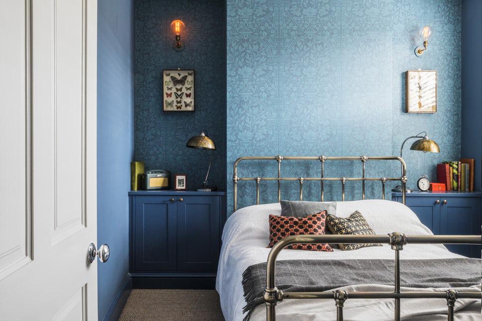 Sức lôi cuốn khó lòng chối từ những căn phòng ngủ mang sắc xanh biển cả - Ảnh 11.