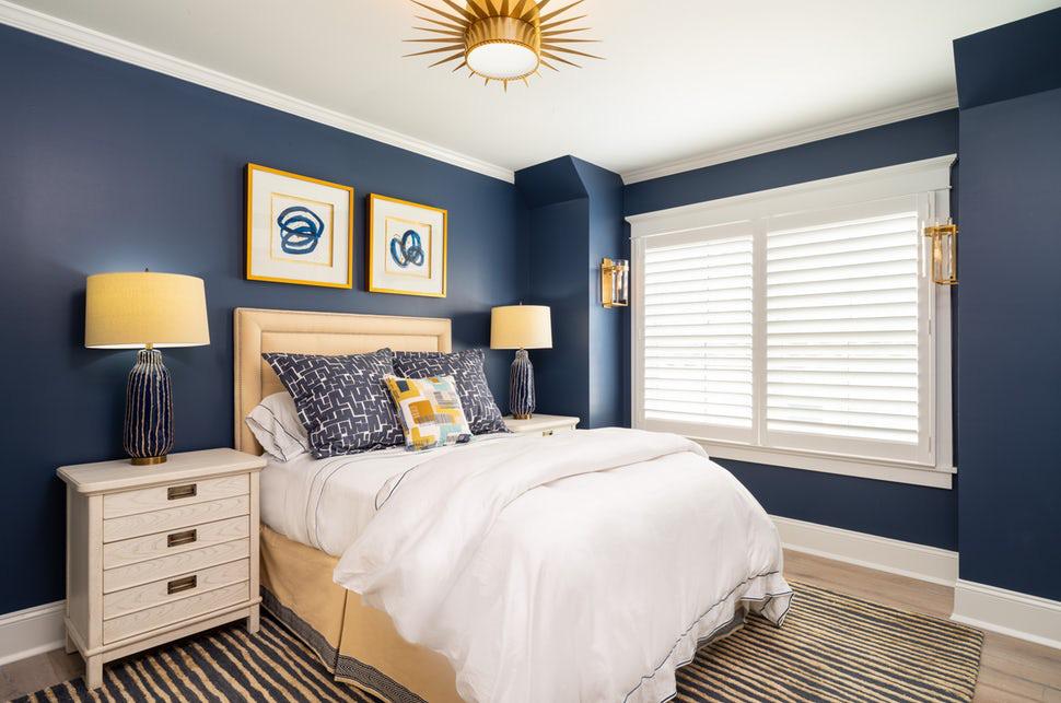 Sức lôi cuốn khó lòng chối từ những căn phòng ngủ mang sắc xanh biển cả - Ảnh 10.
