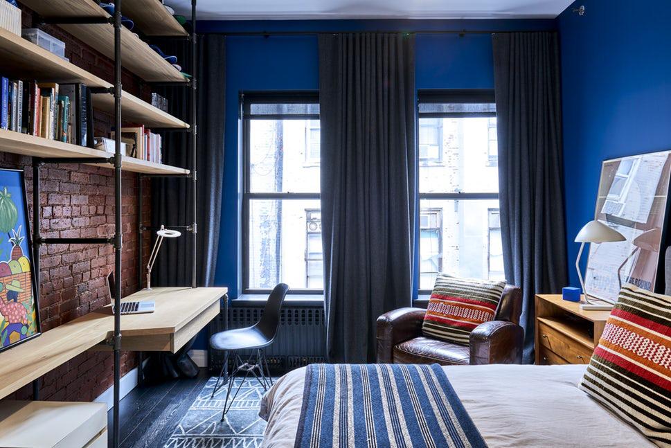 Sức lôi cuốn khó lòng chối từ những căn phòng ngủ mang sắc xanh biển cả - Ảnh 12.
