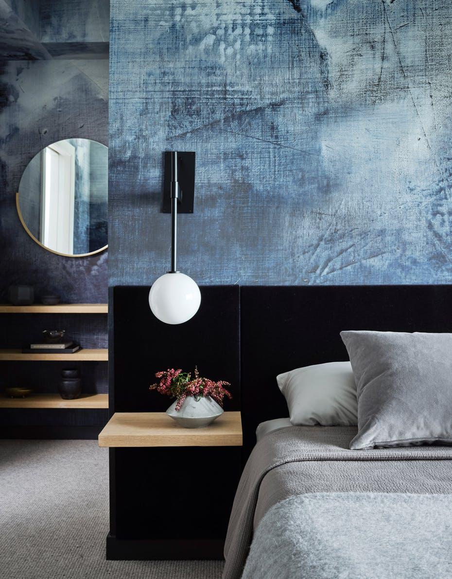 Sức lôi cuốn khó lòng chối từ những căn phòng ngủ mang sắc xanh biển cả - Ảnh 15.
