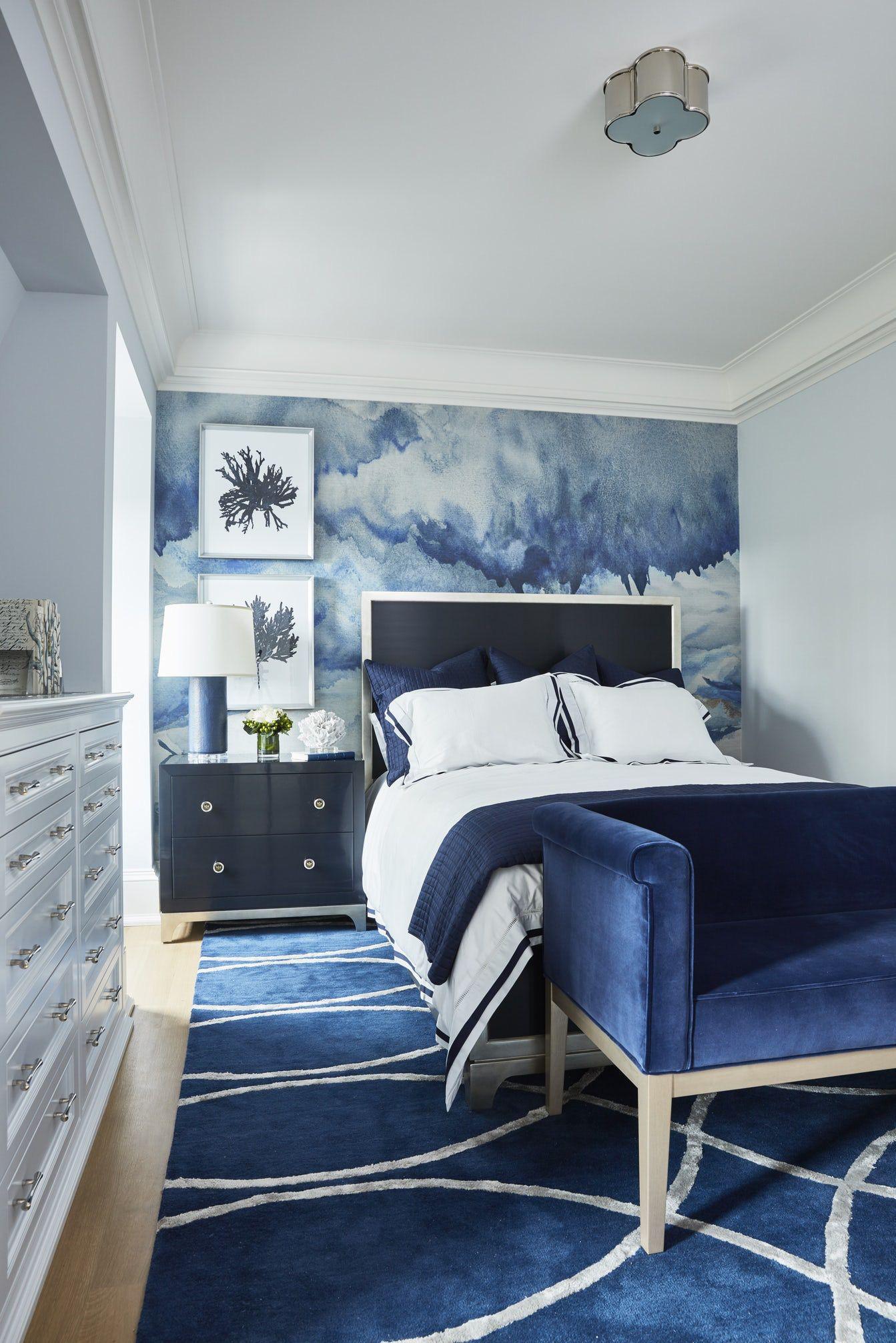 Sức lôi cuốn khó lòng chối từ những căn phòng ngủ mang sắc xanh biển cả - Ảnh 16.