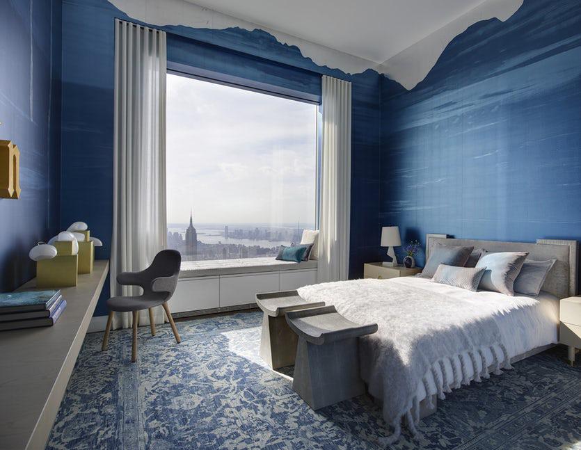 Sức lôi cuốn khó lòng chối từ những căn phòng ngủ mang sắc xanh biển cả - Ảnh 19.