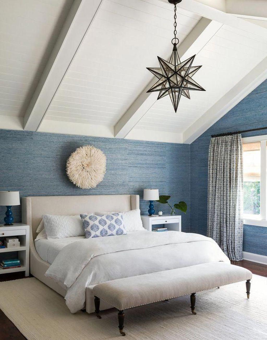 Sức lôi cuốn khó lòng chối từ những căn phòng ngủ mang sắc xanh biển cả - Ảnh 20.