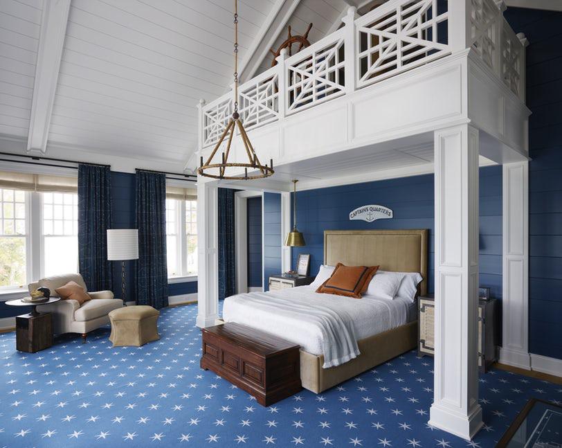Sức lôi cuốn khó lòng chối từ những căn phòng ngủ mang sắc xanh biển cả - Ảnh 3.