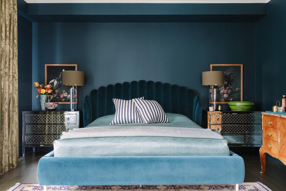 Sức lôi cuốn khó lòng chối từ những căn phòng ngủ mang sắc xanh biển cả - Ảnh 6.