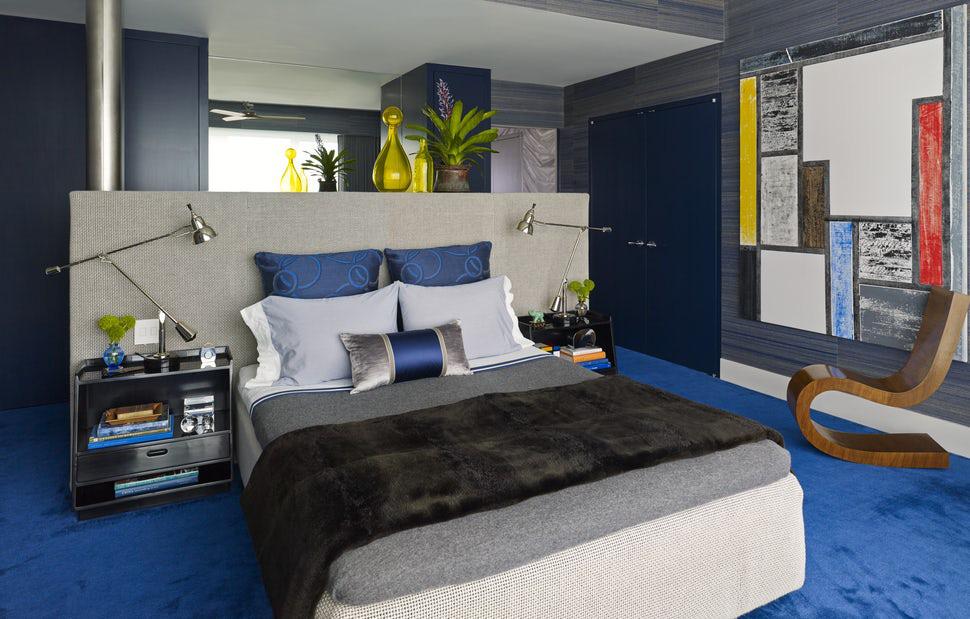 Sức lôi cuốn khó lòng chối từ những căn phòng ngủ mang sắc xanh biển cả - Ảnh 8.