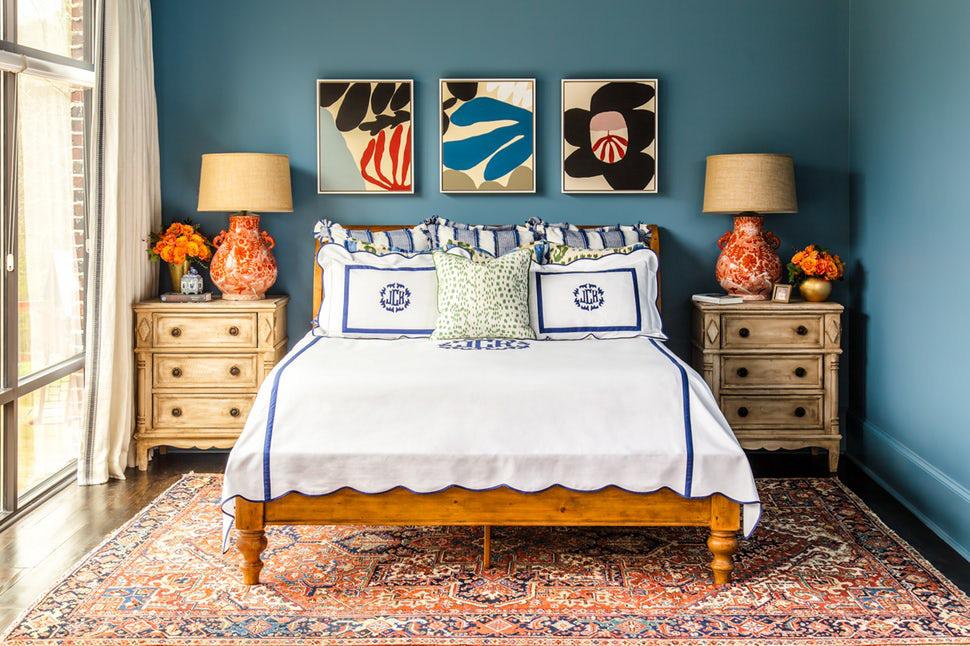Sức lôi cuốn khó lòng chối từ những căn phòng ngủ mang sắc xanh biển cả - Ảnh 9.