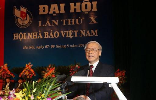 Thư của Tổng Bí thư, Chủ tịch nước chúc mừng 70 năm thành lập Hội Nhà báo Việt Nam - Ảnh 1.