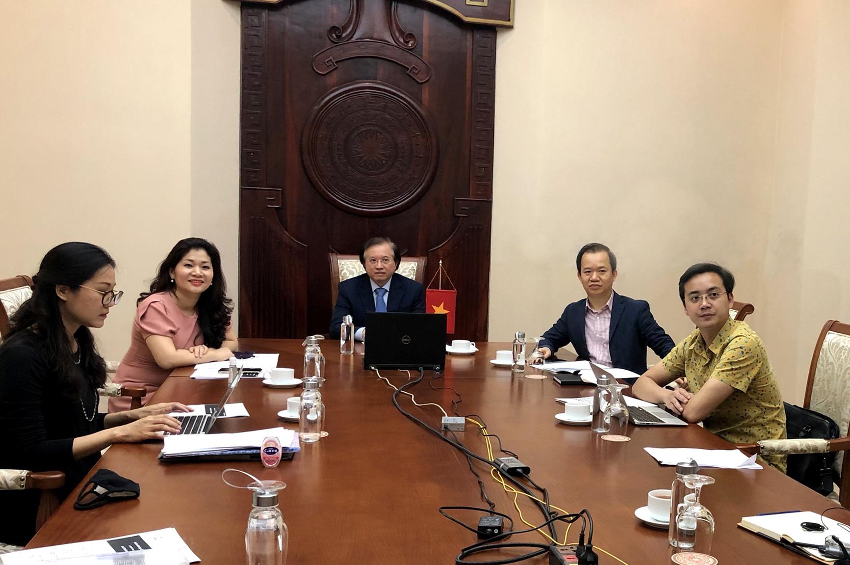 Hội nghị trực tuyến Bộ trưởng Văn hoá UNESCO - Ảnh 3.