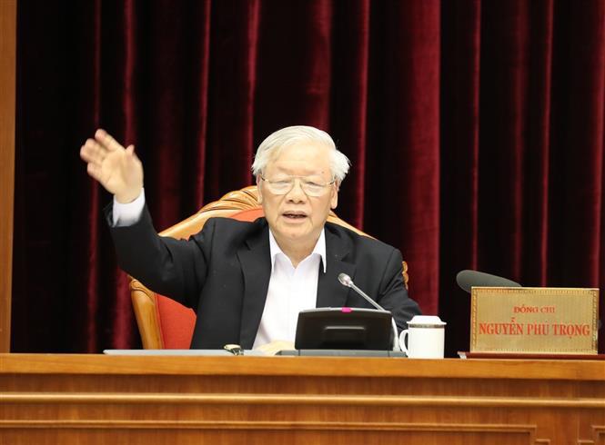 Tổng bí thư, Chủ tịch nước Nguyễn Phú Trọng chủ trì hội nghị cán bộ toàn quốc của Đảng - Ảnh 1.