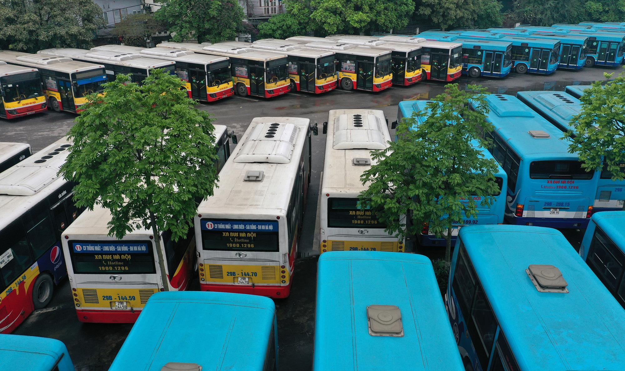 [ẢNH] Vẻ đẹp của gần 200 xe buýt tập kết về bến xếp hàng trong đêm - Ảnh 8.