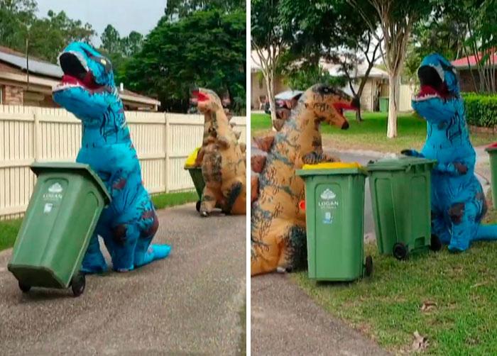 Người Úc tranh thủ mở show diễn thời trang khi ra ngoài đổ rác - Ảnh 9.