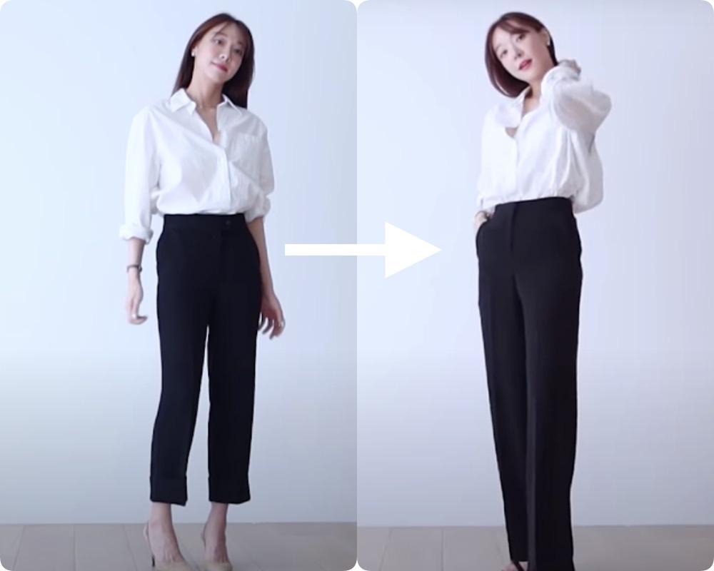 """Đôi chân dài miên man sẽ không còn """"bất khả thi"""" khi nàng công sở Việt dắt túi chiêu hack chiều cao chuẩn chỉnh với combo quần âu   sơ mi  - Ảnh 5."""