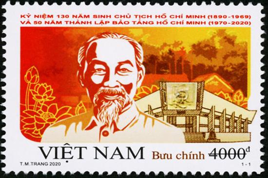 Phát hành đặc biệt bộ tem Kỷ niệm 130 năm sinh Chủ tịch Hồ Chí Minh - Ảnh 1.