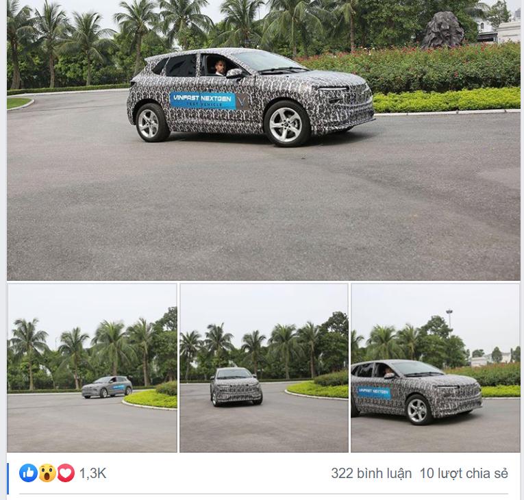 Ô tô VinFast ngụy trang kín mít chạy thử gây xôn xao - Ảnh 1.