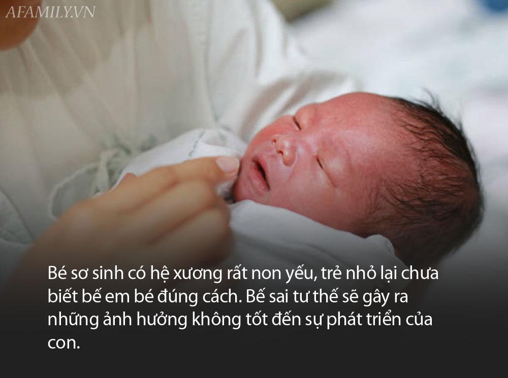 Em bé vừa chào đời mẹ tuyệt đối không được để 4 kiểu này người bế con, kẻo gây ra hậu quả khôn lường! - Ảnh 2.