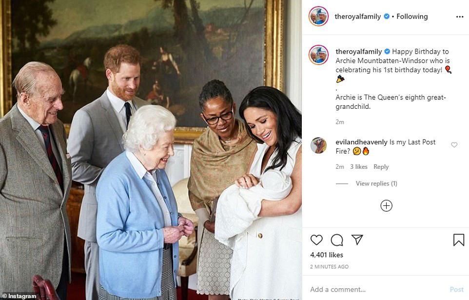 Dù bị vợ chồng Meghan phản bội và làm tổn thương, Nữ hoàng Anh vẫn có hành động khiến nhiều người nể phục nhân dịp sinh nhật bé Archie - Ảnh 1.
