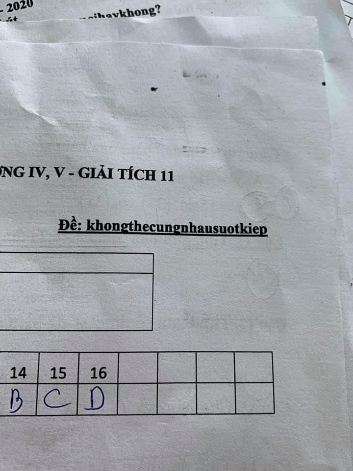 Nhìn vào mã đề bài kiểm tra toán 1 tiết, cả lớp cười ngất vì độ bắt trend của thầy quá nhanh và quá đỉnh - Ảnh 3.