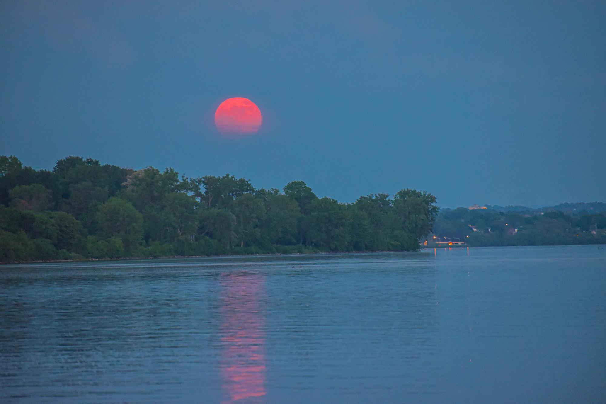 Ngất ngây với một loạt khoảnh khắc về hiện tượng mặt trăng dâu tây hiếm có diễn ra vào đêm qua, rạng sáng nay - Ảnh 11.
