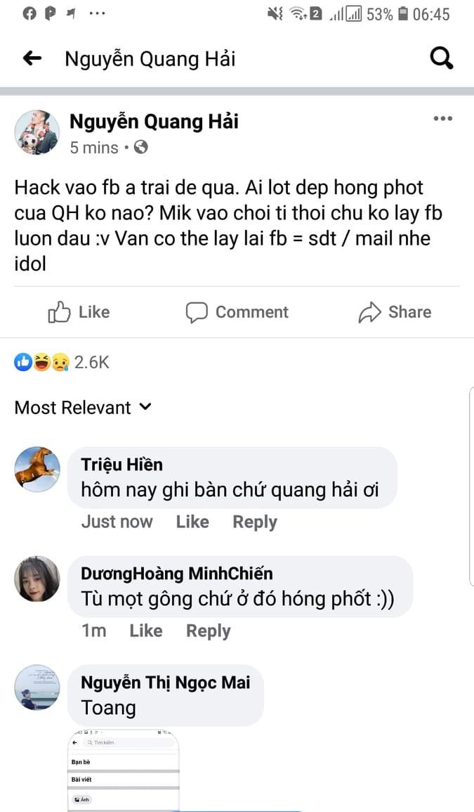 Luật sư nhận định án phạt cho kẻ hack facebook & làm lộ bí mật đời tư Quang Hải - Ảnh 2.