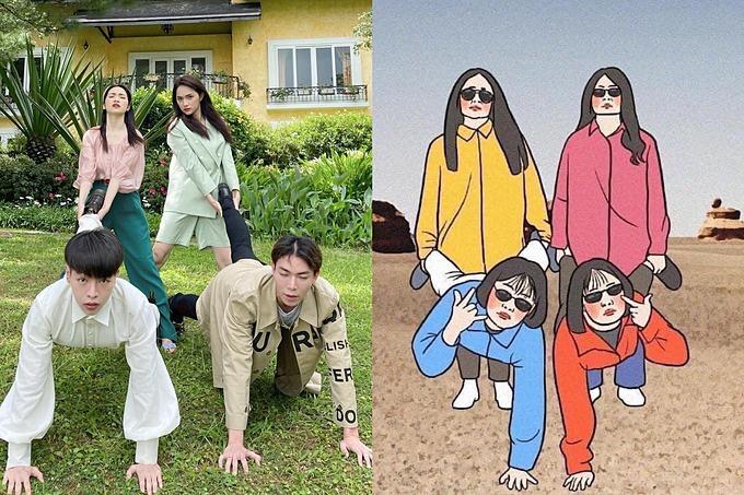 Hòa Minzy và hội bạn thân tư vấn cho khán giả chụp ảnh lầy lội khi đi chơi nhóm - Ảnh 5.