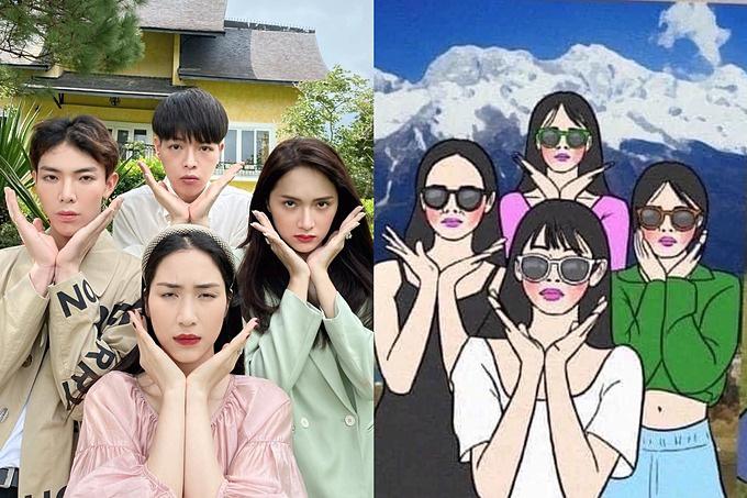 Hòa Minzy và hội bạn thân tư vấn cho khán giả chụp ảnh lầy lội khi đi chơi nhóm - Ảnh 3.