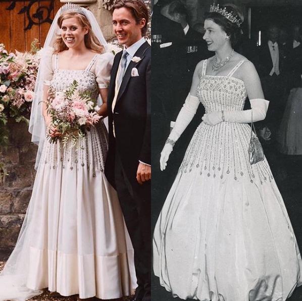Công chúa nước Anh công bố ảnh kết hôn chính thức, vương miện và váy cưới gây chú ý hơn cả, nhắc khéo về cách cư xử của Meghan Markle  - Ảnh 4.