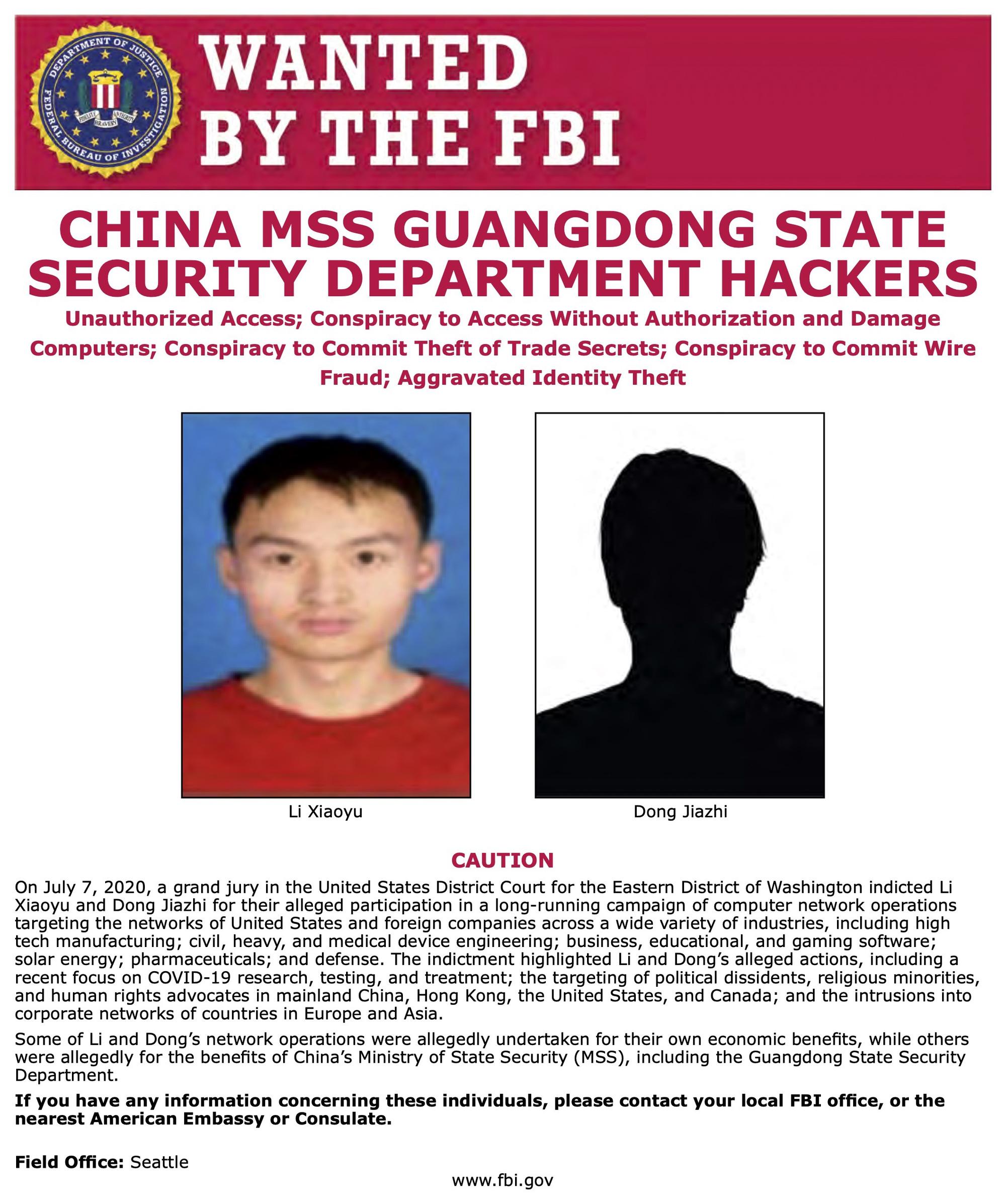 Mỹ buộc tội hacker Trung Quốc ăn cắp nghiên cứu vắc-xin chống dịch Covid-19 - Ảnh 1.