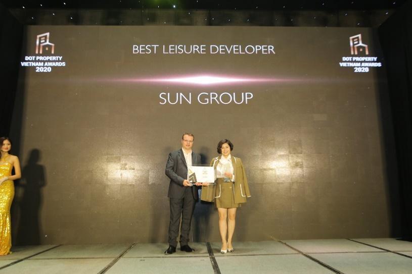 """Sun Group được vinh danh """"Nhà phát triển công trình vui chơi giải trí tốt nhất Việt Nam 2020"""" - Ảnh 1."""