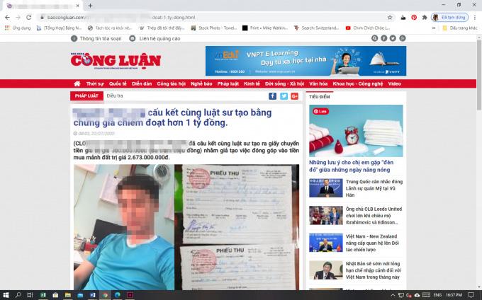 Xuất hiện trang giả mạo báo điện tử của Hội Nhà báo Việt Nam - Ảnh 1.
