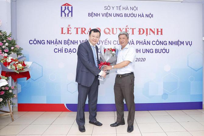 Hà Nội thêm một bệnh viện được Bộ Y tế công nhận là tuyến cuối khám, chữa bệnh chuyên khoa ung bướu cùng Bệnh viện K - Ảnh 1.
