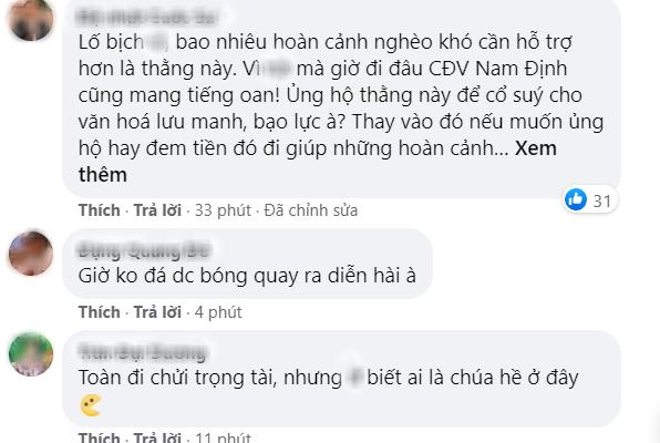 CLB Nam Định gây sốc khi kêu gọi quyên góp cho kẻ bắn pháo gây thương tích bị phạt tù, CĐV cạn lời: Không đá bóng nên diễn hài à - Ảnh 2.