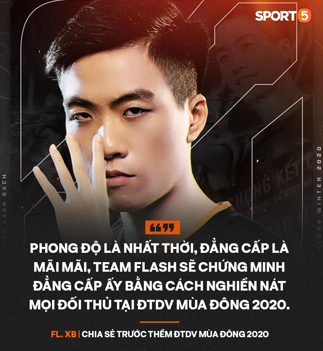 Trước thềm ĐTDV mùa Đông 2020, XB khẳng định Team Flash sẽ nghiền nát mọi đối thủ để lên ngôi vô địch - Ảnh 3.