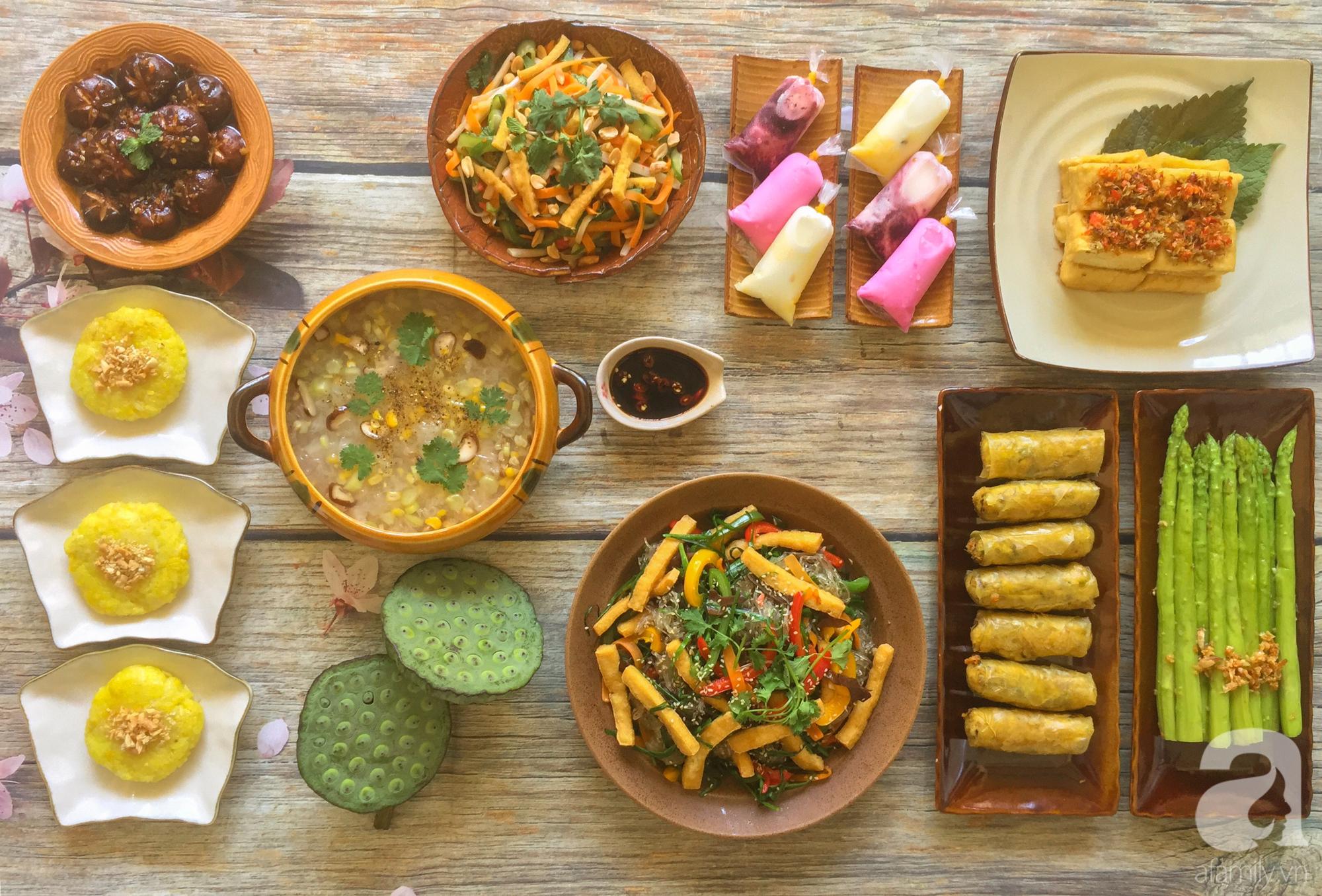 Tháng Vu Lan sắp về, mẹ đảm Sài Gòn chia sẻ mâm cơm chay 9 món đẳng cấp nhà hàng, chỉ nhìn thôi đã thấy quá hấp dẫn! - Ảnh 1.