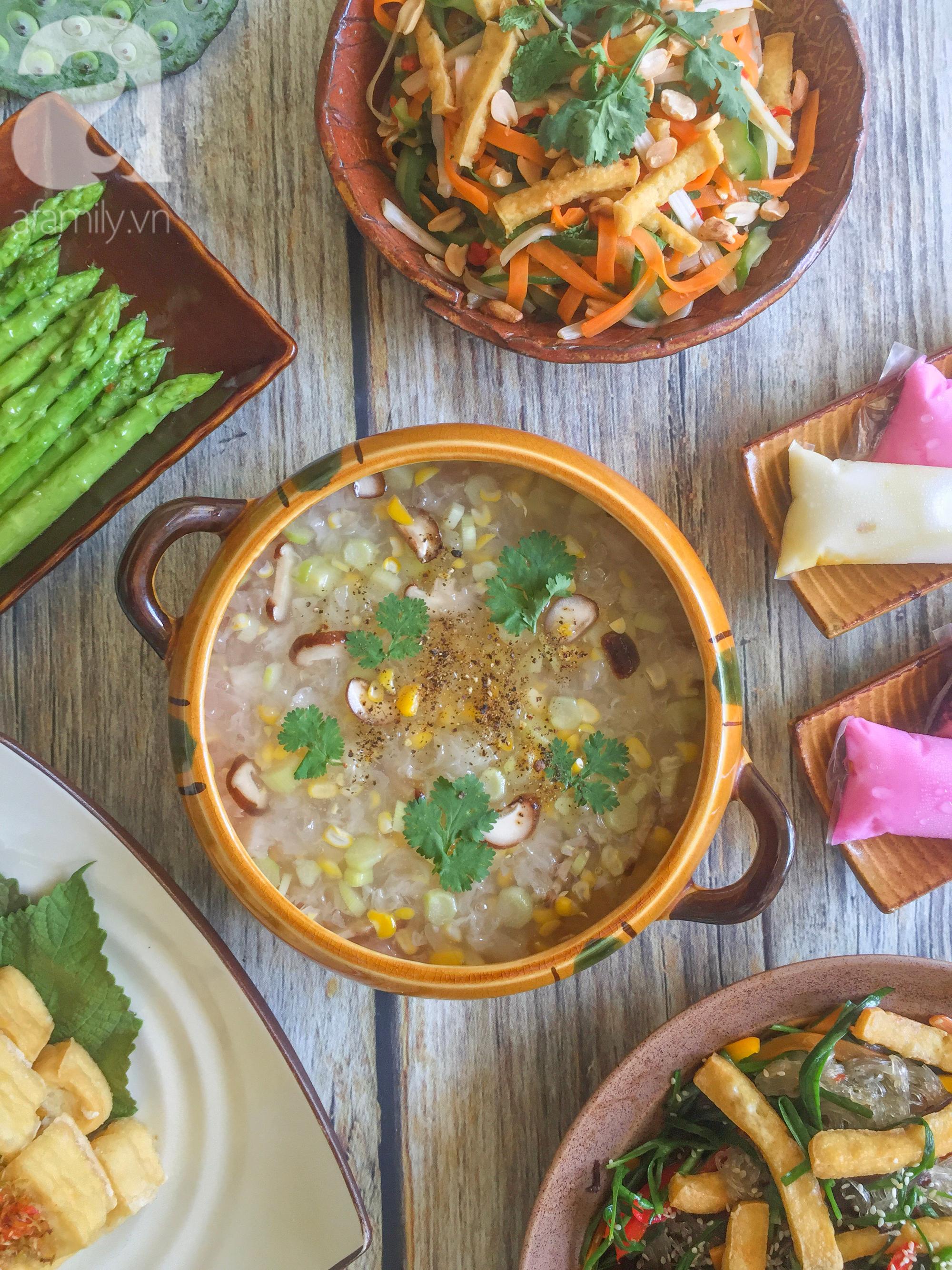 Tháng Vu Lan sắp về, mẹ đảm Sài Gòn chia sẻ mâm cơm chay 9 món đẳng cấp nhà hàng, chỉ nhìn thôi đã thấy quá hấp dẫn! - Ảnh 2.