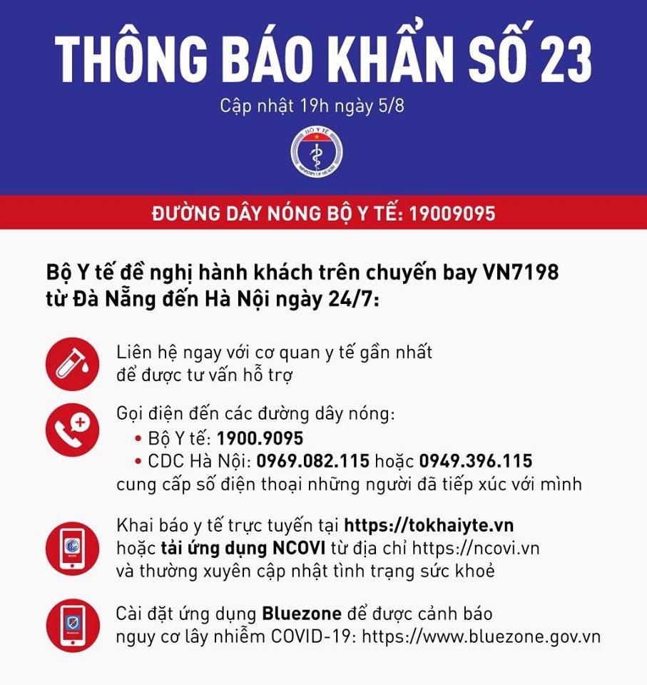 Khẩn: Truy tìm hành khách trên chuyến bay VN7198 từ Đà Nẵng ra Hà Nội - Ảnh 1.