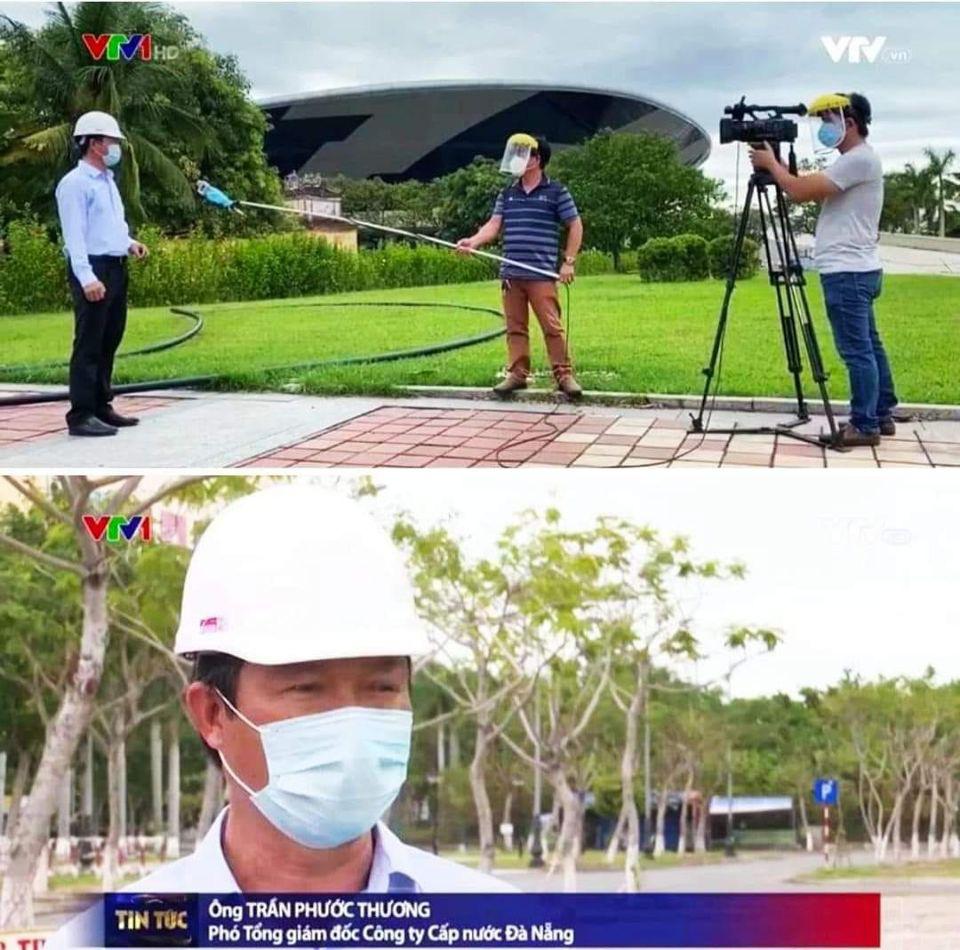 Hậu trường phỏng vấn thời Covid của phóng viên VTV: Đeo kính chống giọt bắn cẩn thận, quấn khẩu trang cả mic, đứng cách xa khách mời 2 mét - Ảnh 1.
