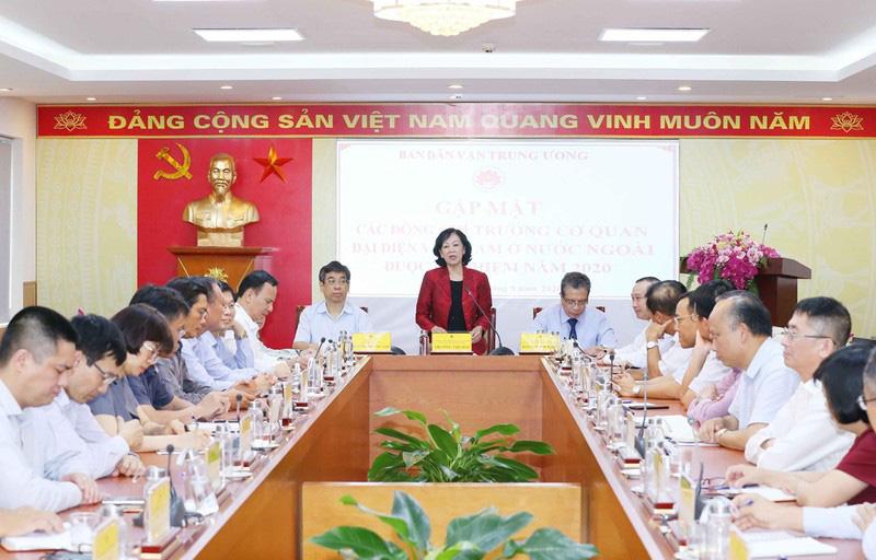 Trưởng Ban Dân vận TƯ tiếp các Trưởng cơ quan đại diện Việt Nam ở nước ngoài - Ảnh 1.