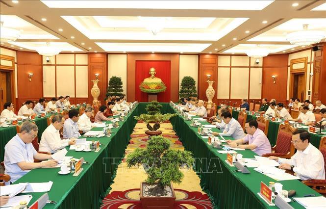 Tổng Bí thư, Chủ tịch Nước chủ trì họp Tiểu ban Văn kiện Đại hội XIII - Ảnh 2.