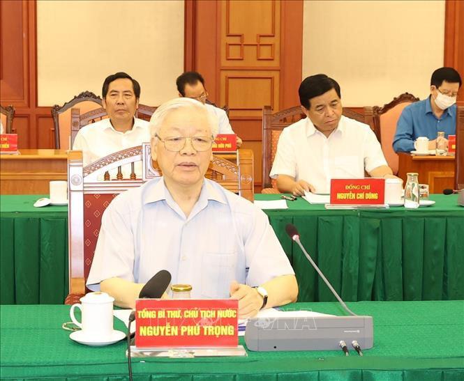 Tổng Bí thư, Chủ tịch Nước chủ trì họp Tiểu ban Văn kiện Đại hội XIII - Ảnh 1.