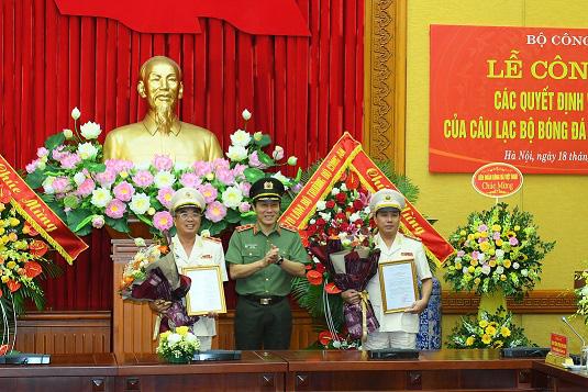 Thiếu tướng Lê Vân được bổ nhiệm giữ chức Chủ tịch Câu lạc bộ Bóng đá Công an nhân dân - Ảnh 1.