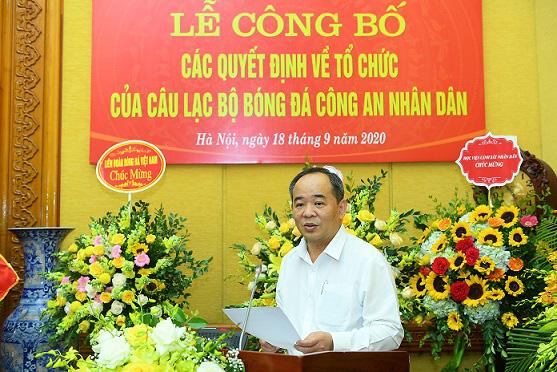 Thiếu tướng Lê Vân được bổ nhiệm giữ chức Chủ tịch Câu lạc bộ Bóng đá Công an nhân dân - Ảnh 2.