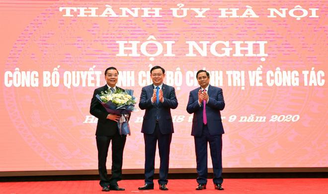 Bộ trưởng Khoa học và Công nghệ Chu Ngọc Anh làm Phó Bí thư Thành ủy Hà Nội - Ảnh 2.