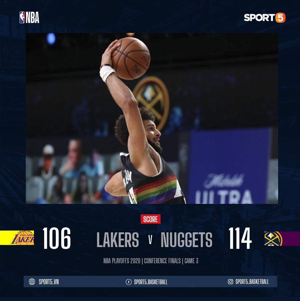 Jamal Murray tỏa sáng đúng lúc, giúp Denver Nuggets chặn đứng cuộc lội ngược dòng thần thánh của Los Angeles Lakers - Ảnh 3.