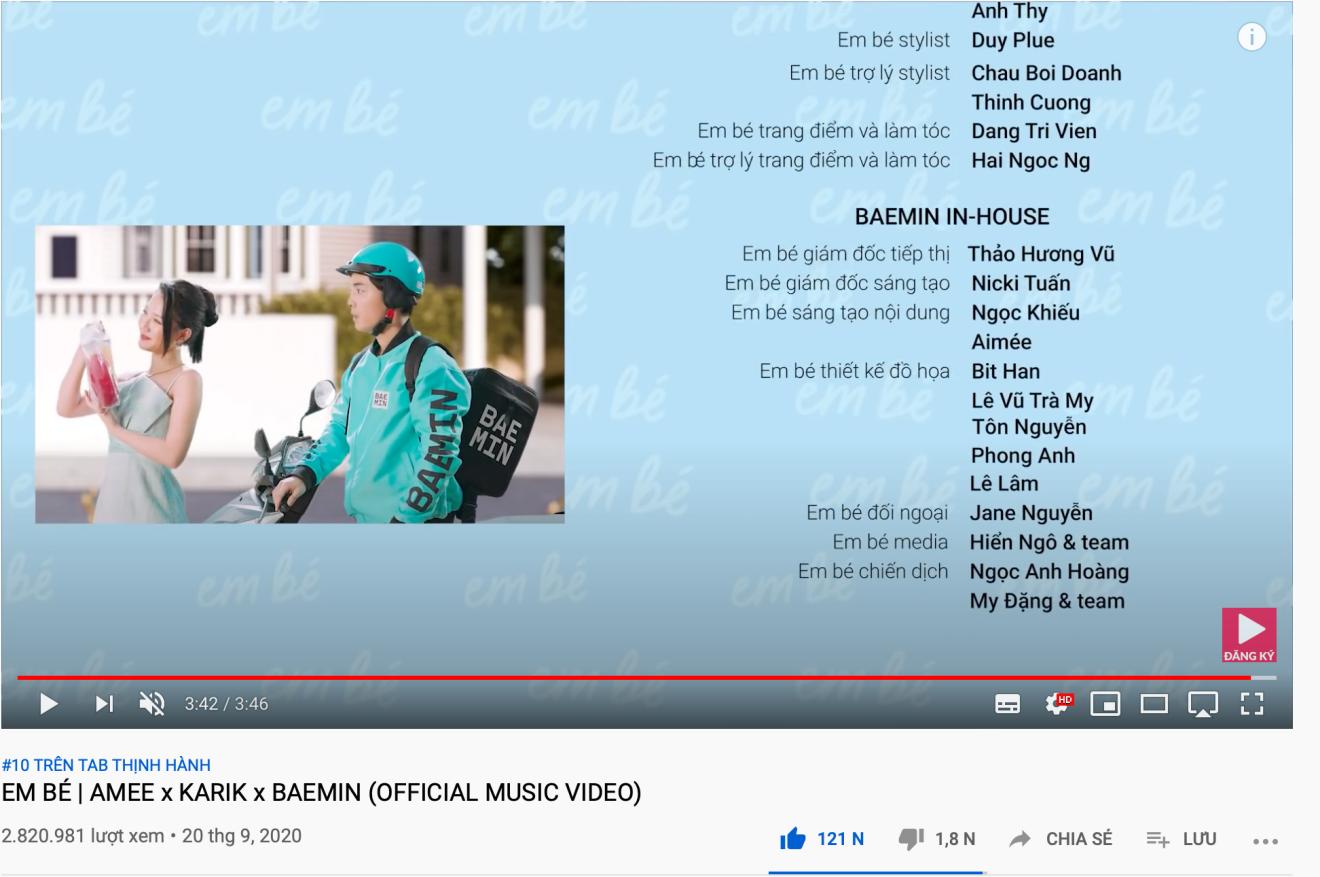 """Top 10 trending MV của Karik và Amee khiến dân tình hú nhau là """"Em Bé"""" - Ảnh 4."""