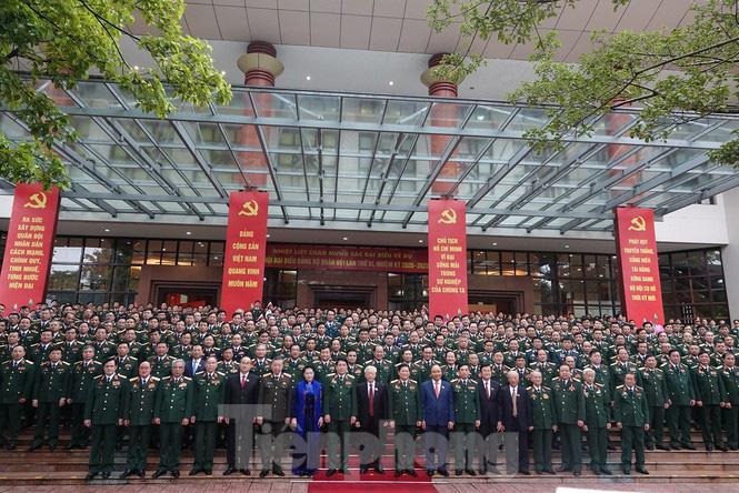 Tổng Bí thư, Chủ tịch nước: Quân đội bảo đảm môi trường 'trong ấm, ngoài êm' cho đất nước - Ảnh 3.